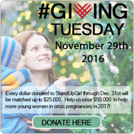 giving tuesday donations to standupgirl foundation