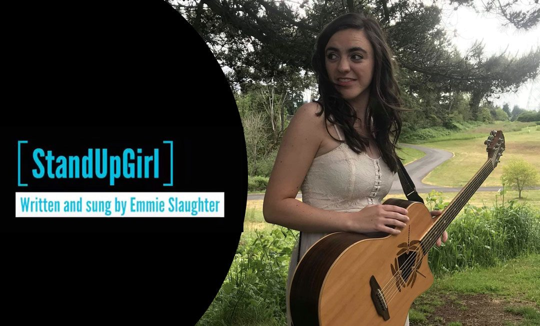 Emmie Slaughter sings original song standupgirl