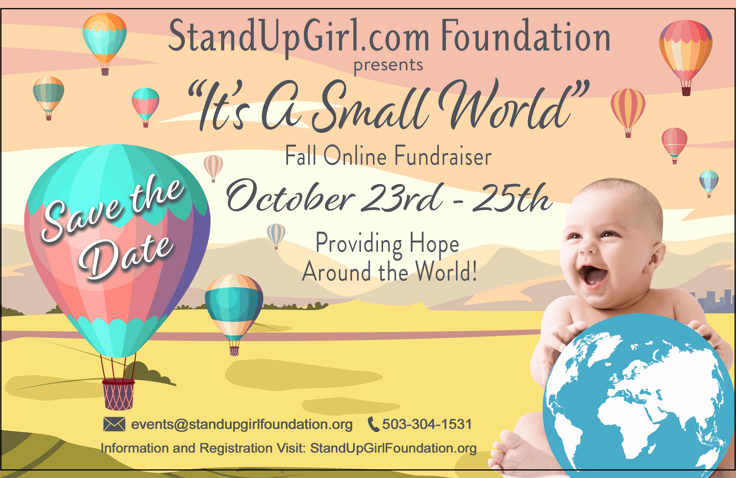I't a small world virtual event standupgirl.com foundation